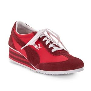 Red Striped Puma Sneakers